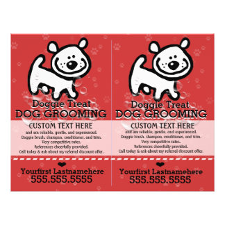 Dog Grooming.Pet Groomer.2 for 1.Customizable. Flyer