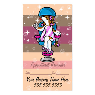 Dog Grooming.Pet groomer.Appointment reminder. Business Card