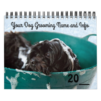 Dog Grooming Pet Store Company Calendar