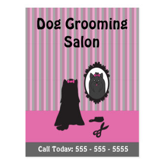 Dog Grooming Postcard - Use it as a Flyer, Handout