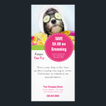 """Dog Grooming Rack Card- Make it into anything Rack Card<br><div class=""""desc"""">Use this dog grooming rack card as a coupon,  as an informational brochure on your services or make it into anything you desire. The possibilities are endless. Other matching products are available in our store.</div>"""