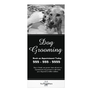 Dog Grooming Rack Card - Personalizable
