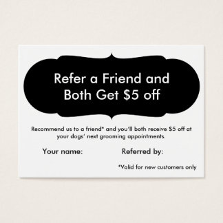 Dog Grooming Referral Card - Personalizable