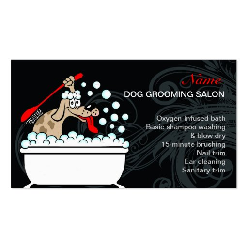 Dog grooming salon business card zazzle for Grooming business cards
