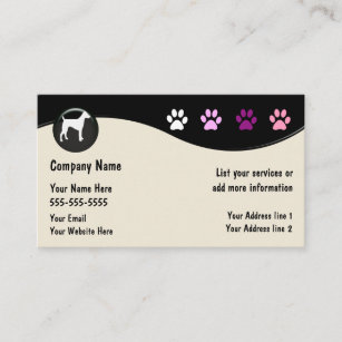 dog grooming salon business card - Dog Grooming Business Cards