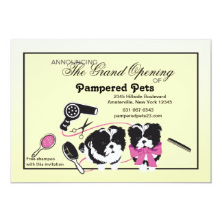 Dog Grooming Salon Grand Opening 5x7 Paper Invitation Card