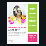 """Dog Grooming Spa Poster Flyer<br><div class=""""desc"""">Personalize this dog grooming spa Poster to display in your grooming shop. Other matching products are available.</div>"""