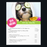 """Dog Grooming Spa Services Menu<br><div class=""""desc"""">Have your grooming clients check off which grooming services they would like on this groomers spa menu. This helps you to sell additional add-on services effortlessly. Additional room for more services is available on the back. This product matches other products in our store.</div>"""