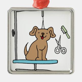 Dog grooming table metal ornament