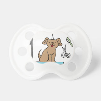 Dog grooming table pacifier
