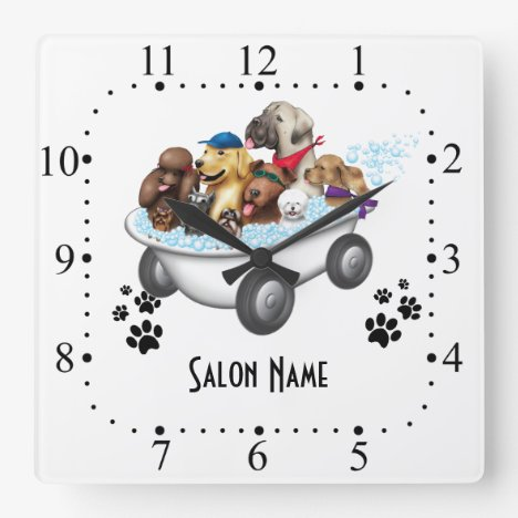 Dog grooming  Wall Clock