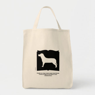 Dog Groucho Quote Book Bag