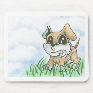 Dog Growl - TOWT  MAIN MASCOT - Full Background Mouse Pad