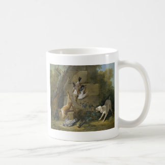 Dog Guarding Dead Game by Jean-Baptiste Oudry Coffee Mug