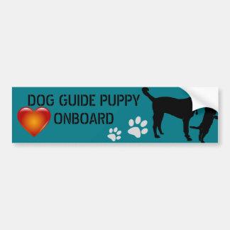 Dog Guide On Board Bumper Sticker - Customize it!
