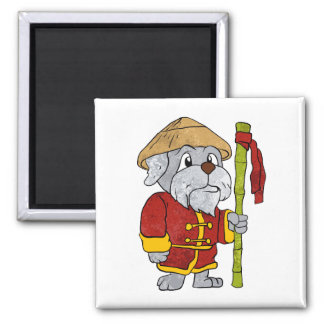 Dog guru master cartoon magnet