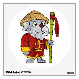 Dog guru master cartoon wall sticker