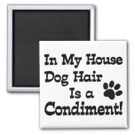 Dog Hair Condiment 2 Inch Square Magnet