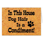 Dog Hair Condiment Greeting Card