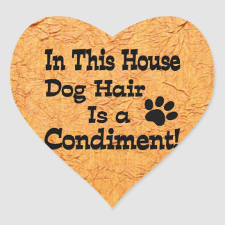 Dog Hair Condiment Heart Sticker