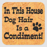 Dog Hair Condiment Sticker