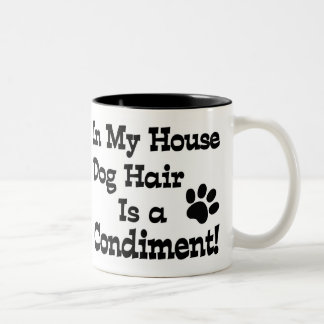 Dog Hair Condiment Two-Tone Coffee Mug