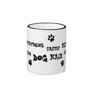dog hair mug! ringer coffee mug