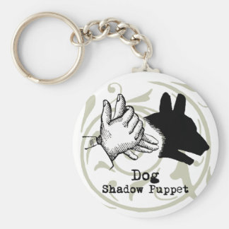 Dog Hand Puppet Shadow Games Vintage Keychain