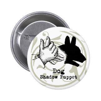 Dog Hand Puppet Shadow Games Vintage Pinback Button