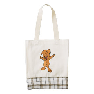 Dog hand showing the sign of victory zazzle HEART tote bag