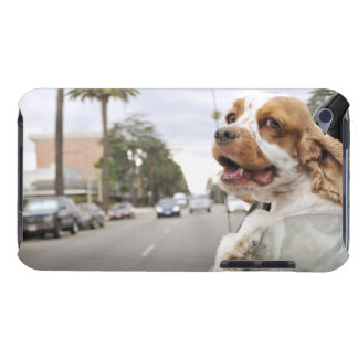 Dog hanging head out of car window barely there iPod cover