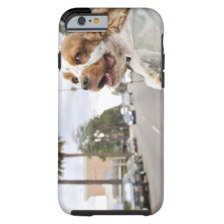 Dog hanging head out of car window tough iPhone 6 case