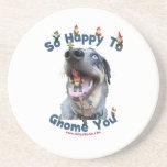 Dog Happy Gnome You Coaster
