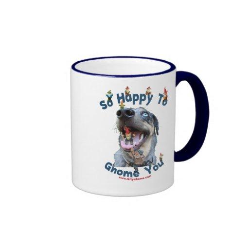 Dog Happy Gnome You Mugs