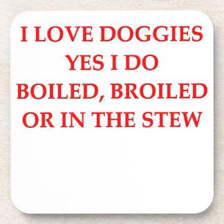 dog hater beverage coasters