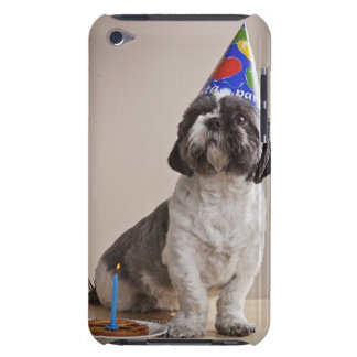 Dog having birthday iPod touch cover