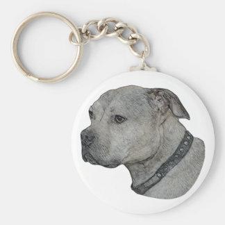 Dog Head Colored Sketch Keychain
