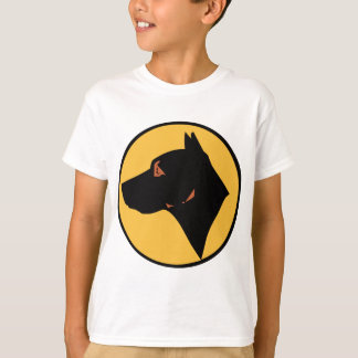 Dog Head in Circle Color.png T-Shirt