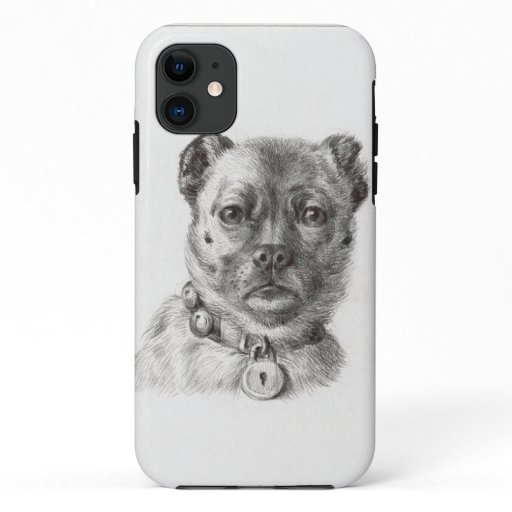 Dog head with a collar iPhone 11 case