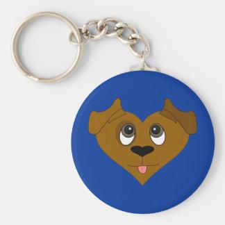 Dog Heart Face Keychains