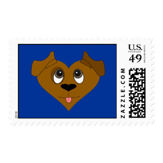 Dog Heart Face Postage Stamp