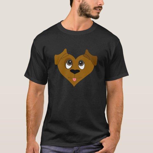 Dog Heart Face T-Shirt