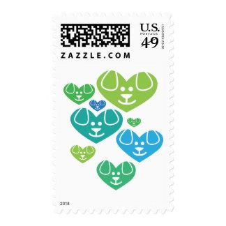 Dog Heart Family Fresh Stamp