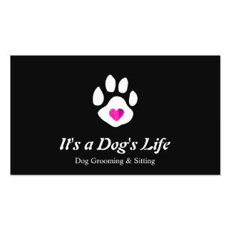 Dog Heart Paw Pet Sitting and Grooming Business Card