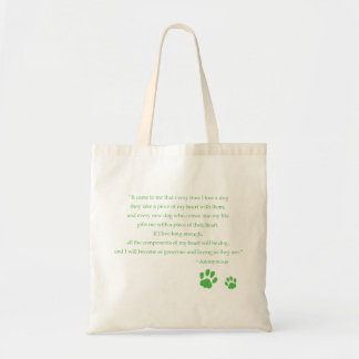 Dog Heart Quote Bag