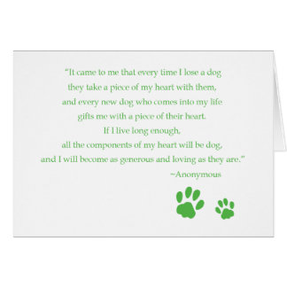 Dog Heart Quote Card