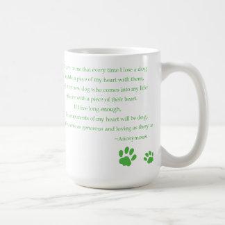 Dog Heart Quote Mug