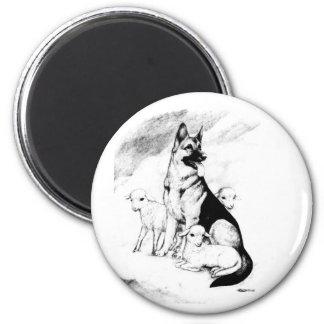 Dog Heaven 2 Inch Round Magnet