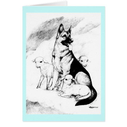 Dog Heaven Greeting Card