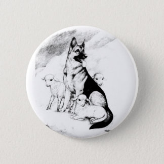 Dog Heaven, the Master's Flock Pinback Button